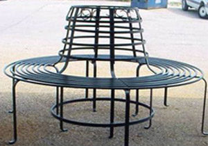Custom Wrought Iron Bench
