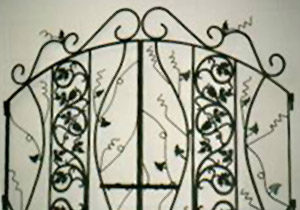Custom Wrought Iron Headboard