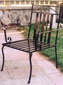 Custom Wrought Iron Chair