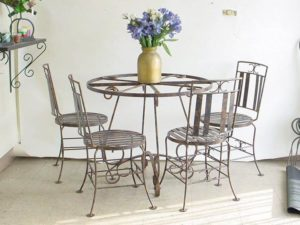 Custom wrought iron dining set