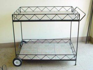 Custom Wrought Iron cart