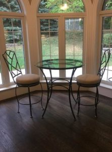 Custom Wrought Iron seating, bar stools